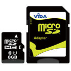 New Vida IT Micro SD SDHC SDXC Memory Card with SD Adapter For BLU Cell Phone