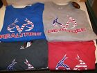 NEW MEN'S REALTREE PATRIOTIC ANTLERS T-SHIRT SIZE XL OR 2XL RED GRAY BLUE CHOOSE