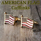 Mens United States America Flag Cufflinks USA Cuff Links Gift For Him c