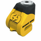 Oxford LK260 Scoot XD5 Disc Lock 5mm Pin Yellow Black Motorcycle Security Bike