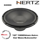 "Hertz UNO S300 S4 - 12"" Car Audio Subwoofer 1000W Car Sub Woofer Bass Woofer"