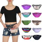 Shiny Retro Fanny Pack Rave Festival Metallic Hologram Bum Bag Waist Pouch