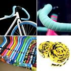 1 Pair Bike Tape Bicycle Bar Cork Handle Handlebar Wrap Ribbon with 2 Bar Plugs