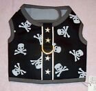 NEW Black Grey with White Skulls Stars Dog Harness Top (Choose Size S, M, L)