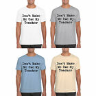 Mens T Shirt MARENO Short Sleeved Novelty Don't Make Me Use My Teacher Print Top