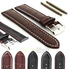 Mens Genuine Leather Watch Strap Band Croco RM S.Steel Buckle and Spring Bars US