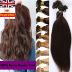 1g/100S U Nail Tip 100% Remy Human Hair Extensions Pre-Bonded Keratin Blonde A78