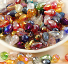 Wholesale 30/50pcs Ab Teardrop Shape Tear Drop Glass Faceted Loose Crystal Beads