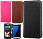 For Samsung Galaxy J7 PRIME Premium Wallet Case Pouch Flap STAND Cover