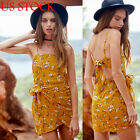 Womens Summer Holiday Floral Evening Party Cocktail Beach Club Short Mini Dress