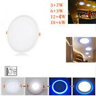 6W 9W 18W 24W LED Ceiling Panel Down Lights Bulb Slim Lamp Fixture Blue White
