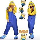 Cute Despicable Me  Minions Adult Pajamas Cosplay Costume Kigurumi Pyjamas Dress