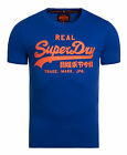 New Mens Superdry Factory Second Vintage Logo Entry T-Shirt Royal Blue