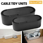 Large Small Black Cable Tidy Unit Cover for 6/4 gang Power Socket Extension Lead