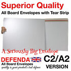 """C2 A2 626mm x 451mm - 24.6"""" X 17.7"""" LARGE ALL BOARD WHITE CARD ENVELOPES"""