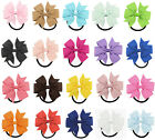 "10pcs 20pcs 3"" 8cm Hair Bow Elastic Bands Bobbles Grosgrain Ribbon Eco Girl Kid"