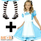 Alice + Tights Girls Fancy Dress Fairytale Book Day Week Kids Childs Costume New