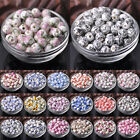 Wholesale 10/50pcs 10mm Round Ceramic Porcelain Loose Spacer Beads DIY Findings