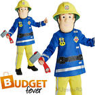 Boys Fireman Sam Childs Firefighter Fancy Dress Uniform Book Week Kids Costume