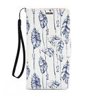 For Samsung Galaxy Note 2 Leather Wallet Flip Case Credit Card Cover Feathers