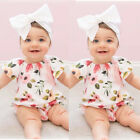 Newborn Infant Baby Girl Short Sleeve Hot Floral Jumpsuit Romper Outfits Clothes