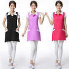 Внешний вид - Hot Women Workwear Female Double Strap Hotel Apron Beauty Spa Summer Uniform