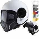 Caberg Ghost White Open Face Motorcycle Helmet & Visor Urban Lid Tinted Shield