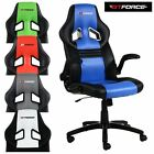 GTFORCE SPRINT LEATHER GAMING SPORT RACING CAR OFFICE CHAIR PC DESK ADJUSTABLE