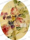 Vintage Image Victorian Antique Rose Oval Pattern Shabby Decals FL483