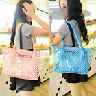 Women Transparent Handbag Shoulder Bag Clear Jelly Purse Clutch PVC Tote Bag US