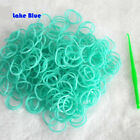 DIY 600pcs Glitter Jelly Color RUBBER BAND REFILLS f/ Rainbow Looms Clips Great