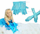 HALLOWEEN Snow Princess Elsa SHORT GLOVES Blue Cartoon Party Costume Girl Cloth