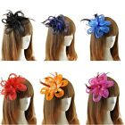 Elegant Women Fascinator Hat Feather Headband Cocktail Wedding Party Headpiece