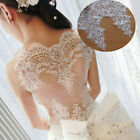Sequins Embroidery Lace Edging Trim Floral Ribbon Wedding Bridal Sewing Applique