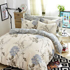 Floral Duvet Cover Pillow Case Quilt Cover Bedding Set Single Double King Queen