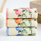 Cotton Towels Rose Flower Printed Hand Luxury Terry Face Bathroom Gift Absorbent