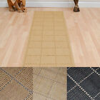 Rug Runners -Square patterned - Natural, Black or Brown - 60cm x 180cm