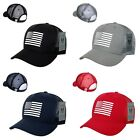 USA US American Rubber Flag Mesh Trucker Military Snapback Baseball Hat Cap