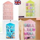 16 POCKETS WARDROBE STORAGE BAG CLEAR HANGING DOOR WALL CLOSET SOCKS ORGANIZER
