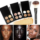 4Colors Makeup Face Powder Glow Kit Gleam Highlighter Bronzers Palette w/Brush
