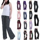 Womens Cotton Pajama Pants Wide Leg Sleepwear Casual Loose Lounge PJ Bottoms