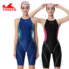 YINGFA Womens Girls Knee skin Competition Racing Sharkskin Swimsuit 953