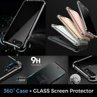 Hybrid 360° Shockproof Case With Tempered Glass Cover For iPhone 6 6s 7 7 Plus