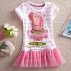 2017 New Baby Toddler Girls Pink Peppa Pig Party Tutu Dress Top Outfit 2T - 6 @#
