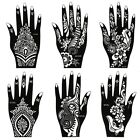 BMC 8pc Mehndi Henna Tattoo Body Part Kit - 2 Color Cones w/ 6 Template Stencils