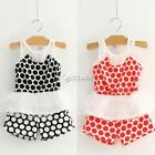 Baby Girl Kids Children's Wear Pants Set Dots Sleeveless Fancy Dress DZ88