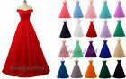 Long Off Shoulder Tulle Formal Ball Gown Party Evening Prom Bridesmaid Dress New