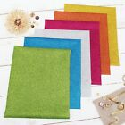 "Heat Transfer Vinyl Precut Sheets Packs - 12 Glitter or 15 Solid Colors -10""x12"""