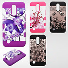 For LG Harmony M257 Tuff Trooper HYBRID TPU Protector Hard Case Skin Phone Cover
