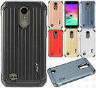 For LG Harmony M257 Rubber IMPACT CO HYBRID Case Skin Phone Cover +Screen Guard
